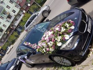 оформление машин, цветочный дизайн, оформление машин цветами