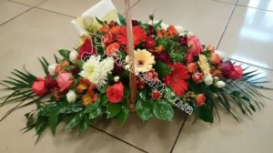 цветочные корзины,красивые корзины,оформление корзин