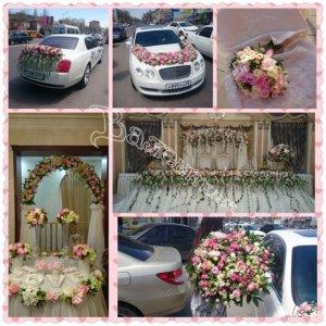 свадьба,оформление машин, цветочный дизайн