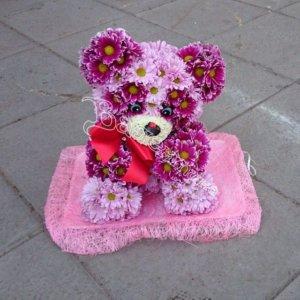 игрушки из цветов, цветы,оригинальные игрушки