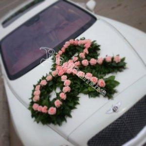 цветочный дизайн, оформление машин цветам, свадьба