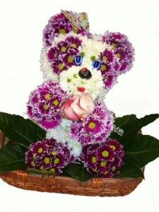 оригинальные игрушки, игрушки из цветов, цветы