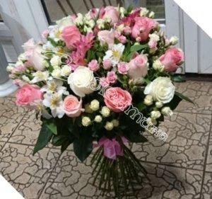 свадебный букет, букет невесты, подарить цветы, цветы в подарок, купить цветы