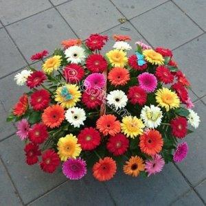 корзины под цветы,оформление корзин, плетёные корзины,