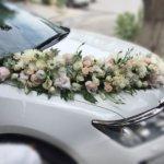 цветочный дизайн, оформление машин цветам, оформление свадебного кортежа
