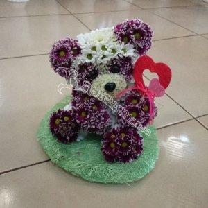 игрушки из цветов,оригинальный подарок,цветочный дизайн