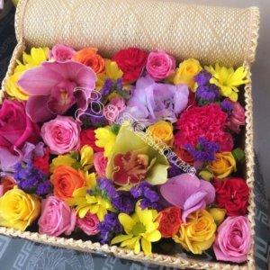 плетёные корзины, оформление корзин,корзины под цветы,