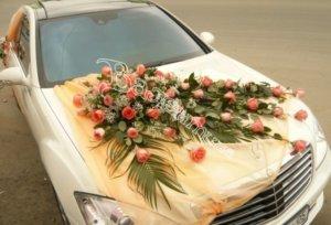 цветочный дизайн, оформление свадебного кортежа, машины на свадьбу