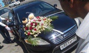 оформление свадебных машин, свадьба, оформление машин