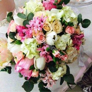 цветы, букет невесты, свадебный букет, цветы в махачкале