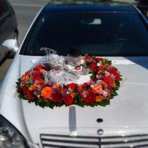 оформление свадебных машин, свадьба, машины на свадьбу, цветочный дизайн