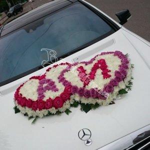 свадьба, машины на свадьбу, оформление машин, оформление машин цветам