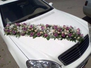 цветочный дизайн, оформление машин цветам, оформлдение свадебного кортежа, свадьба