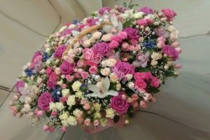 цветочные корзины, дизайн корзин, цветочный дизай