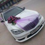 оформление машин цветам, оформление свадебного кортежа