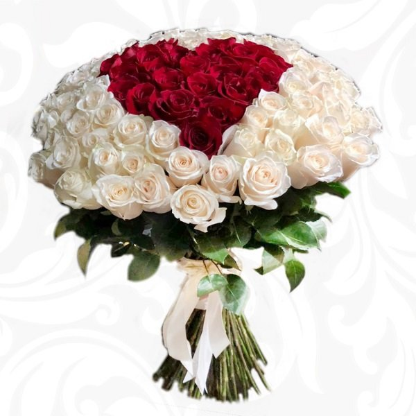букет из роз, много роз