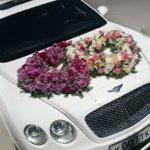 оформление машин цветам, оформление свадебного кортежа, свадьба